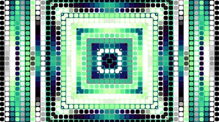 matriz : Transforming from squares to circles. Abstract geometric background. Looping footage. Stock Footage