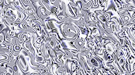 clipart : Moving random wavy texture. Psychedelic animated abstract curved shapes. Looping footage.