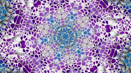 mosaico : Transforming round mandala pattern. Seamless loop footage. Emboss geometric lattice mandala in arabic style. Islamic geometric arabesque pattern. Stock Footage
