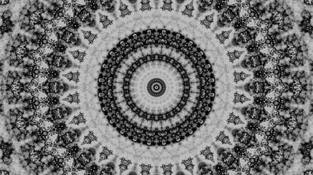 round ornament : Spinning abstract magic circle. Esoteric cosmic mandala. Simply ornamental mandala. Loop footage.