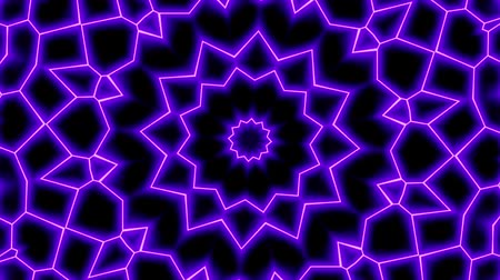 clipart : Moving geometric shapes. Transforming futuristic technology mandala. Looping footage.
