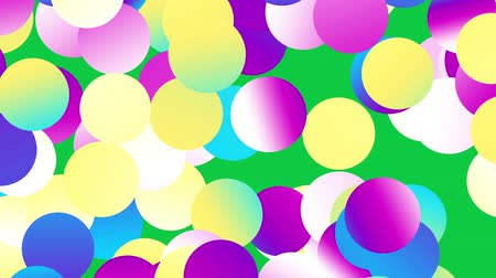 kleks : Moving abstract background. Transforming polka dot pattern on green screen background.