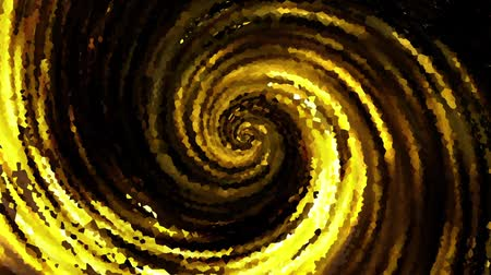 huni : Endless spinning Revolving Spiral. Seamless looping footage. Abstract gold helix.