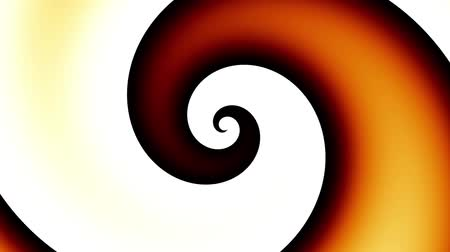 dairesel : Endless spinning Revolving Spiral on white background. Seamless looping footage. Abstract helix.