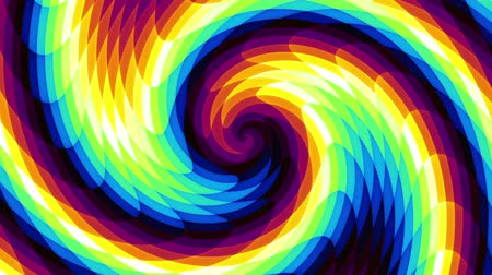 whirlpool : Endless spinning Revolving Spiral with rays Seamless looping footage. Abstract helix. Stock Footage