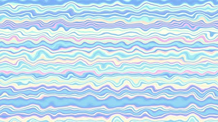 roer : Moving random wavy texture. Psychedelic animated background. Horizontal waves. Looping footage.