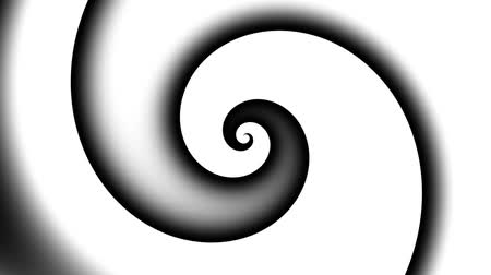 尖塔 : Endless spinning Revolving simply Spiral on white background. Seamless looping footage. Abstract helix.