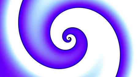 воронка : Endless spinning blue simply Spiral on white background. Seamless looping footage. Abstract helix. Стоковые видеозаписи