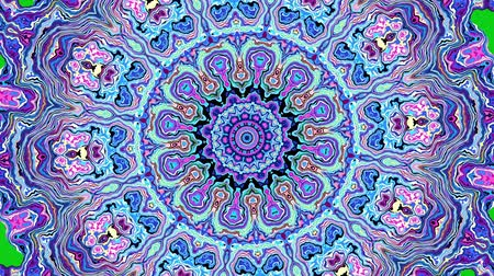 art noveau : Transforming ornamental mandala on green screen background. Seamless loop footage. Stock Footage
