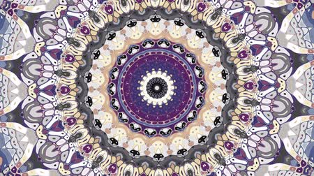 art noveau : Transforming ornamental vintage mosaic art circle. Round ornate ornamental mandala pattern. Seamless loop footage.