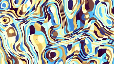 roer : Moving random wavy texture. Psychedelic transforming background. Looping animated footage.