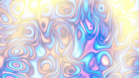 kavisli : Moving random wavy texture. Psychedelic animated background. Transform abstract curved shapes. Looping footage.