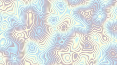 roer : Moving random wavy texture. Psychedelic animated background. Transform abstract curved shapes. Looping footage.