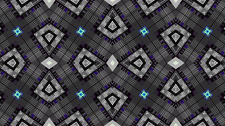 街 : Transforming simply grid of squares. Symmetric geometric pattern Looping footage.