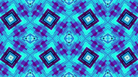 kübizm : Transforming simply grid of squares. Symmetric geometric pattern Looping footage.