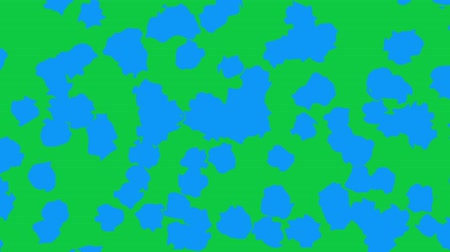 pontos : Moving abstract background. Transforming polka dot pattern on green screen background. Looping footage.