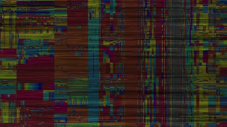 interferenza : Abstract background with grunge artifacts codec. Imitation of a Datamoshing video. Filmati Stock