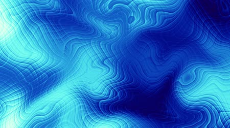 roer : Moving random wavy texture. Psychedelic animated background. Transform abstract blue surface. Looping footage. Stockvideo