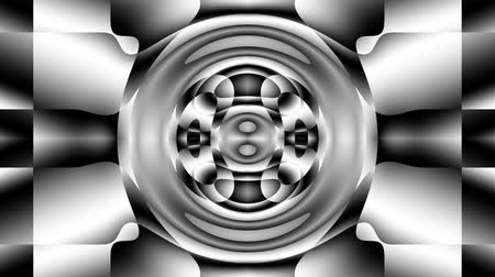 roer : Transforming futuristic abstract shapes. Abstract background. Looping footage. Stockvideo