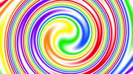 seks : Rainbow Gay Flag Animation on white background. Concept LGBT Community. Abstract graphics looping animation. Stok Video