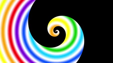 trychtýř : Endless spinning futuristic Spiral. Seamless looping footage. Abstract rainbow colors helix. Dostupné videozáznamy