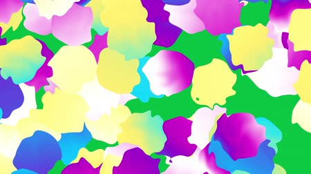 polca : Moving abstract background. Transforming polka dot pattern on green screen background.