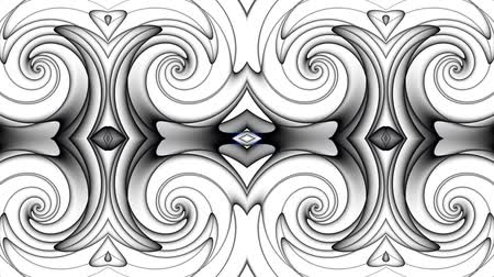 çizmek : Transforming abstract futuristic ornamental background. Animated looping footage.