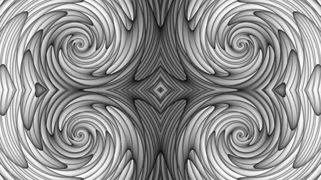 futurismus : Transforming abstract futuristic ornamental background. Animated looping footage.