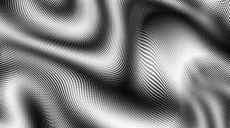 rasgele : Moving random wavy texture. Psychedelic animated background. Transform abstract black and white surface. Looping footage.