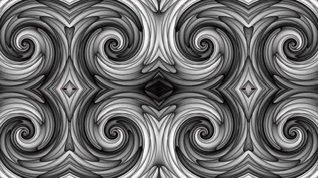futurismo : Transforming abstract futuristic ornamental background. Animated looping footage.