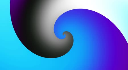 鮮やかな : Endless spinning futuristic Spiral. Seamless looping footage. Abstract helix.