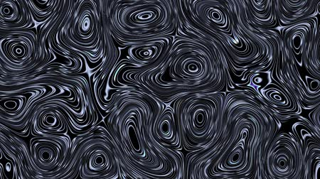 salvapantallas : Moving random wavy texture. Psychedelic animated abstract shapes on black background. Looping footage.