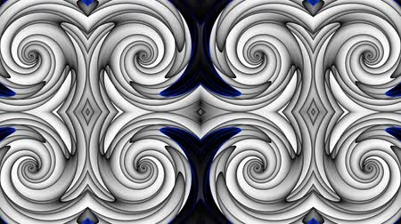 kavisli : Transforming abstract futuristic ornamental background. Animated looping footage.
