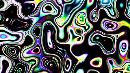 rasgele : Moving random wavy texture. Psychedelic animated abstract background. Looping footage. Stok Video