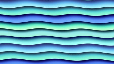 anyagi : Moving random wavy texture. Psychedelic wavy animated abstract curved shapes. Looping footage.