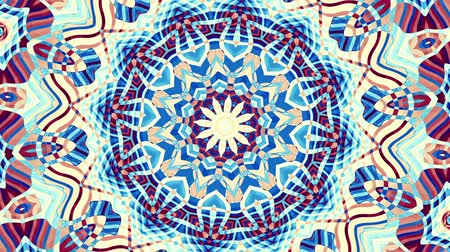 кривая : Transforming ornamental vintage mosaic art circle in retro style. Seamless loop footage.