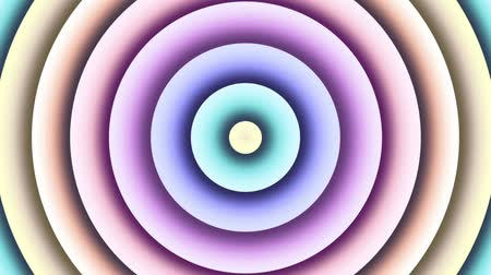 esotérico : Multi color changing circle. Abstract animated background. Looping footage.