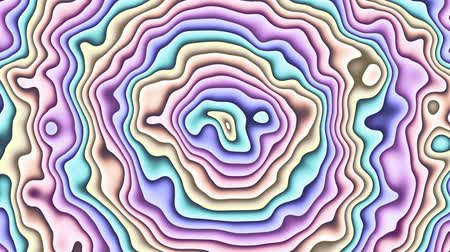 vibrující : Moving random wavy texture. Psychedelic animated abstract curved shapes. Looping footage.