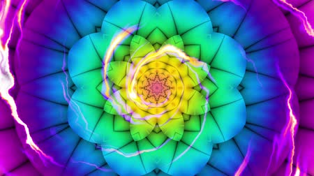 buda : Spinning abstract magic flower. Esoteric cosmic mandala with rayses. Looping footage. Symbol of the sun.