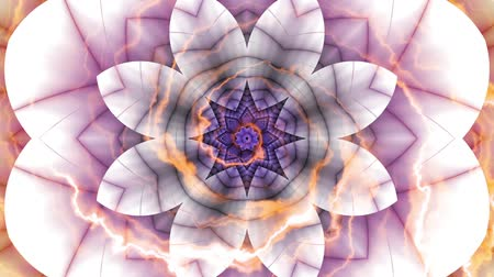 sugárzó : Spinning abstract magic flower. Esoteric cosmic mandala with rayses. Looping footage. Symbol of the sun.