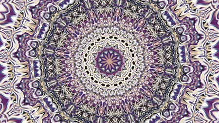 art noveau : Transforming ornamental vintage mandala in retro style. Seamless loop footage.