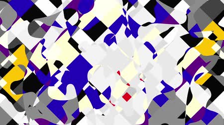 シンメトリック : Moving and transfoeming geometric shapes. Symmetric ornament pattern. Transforming pattern. Looping footage.