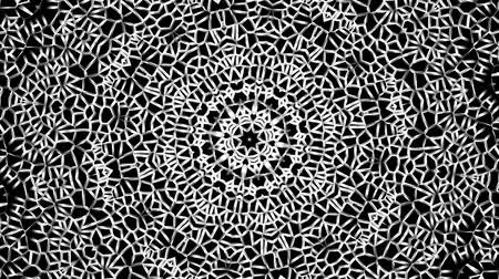 mozaik : Transforming round mandala pattern. Seamless loop footage. Emboss geometric lattice mandala in arabic style. Islamic geometric arabesque pattern. Stok Video