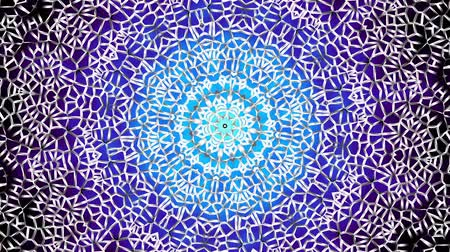 arabian : Transforming round mandala pattern. Seamless loop footage. Emboss geometric lattice mandala in arabic style. Islamic geometric arabesque pattern. Stock Footage