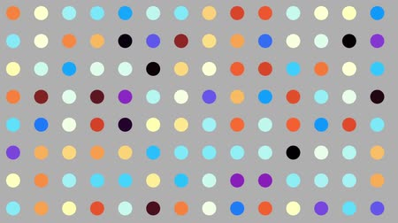 szybko : Quickly fast flickering polka dot pattern. Looping footage. Wideo