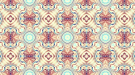 kavisli : Symmetric vintage transforming ornament. Animated pattern. Looping footage. Stok Video