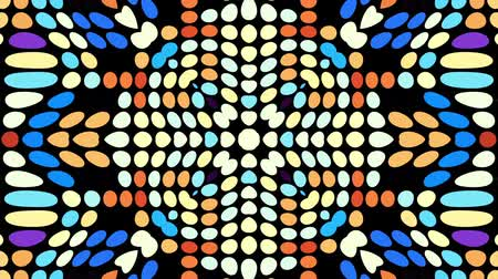 hippie : Symmetric abstract psychedelic pattern. Abstract footage in Psychedelic hippy style. Loop footage.