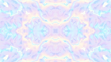 ヒッピー : Symmetric abstract psychedelic pattern. Abstract footage in Psychedelic hippy style. Loop footage.