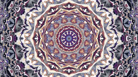 art noveau : Transforming ornamental vintage mosaic art circle in Art Nouvoe style. Seamless loop footage.