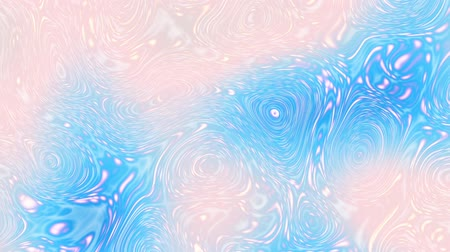 düzensiz : Moving random psychedelic waves on blurred background. Abstract screensaver for video. Looping footage. Soft colors.